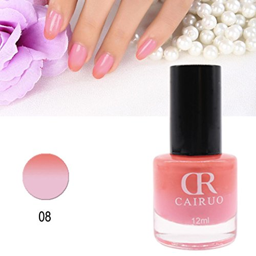 LtrottedJ 12ml Temperature Change Nail Polish ,Color Temperature Control Nail Oil 26 Color (Aphrodites Pink Nightie)