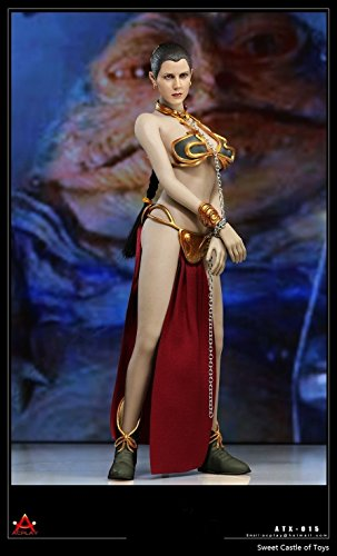 TONGROU 1/6 AcPlay ATX015 The Enslaved Slave Princess Leia Gold Bikini Suit Set