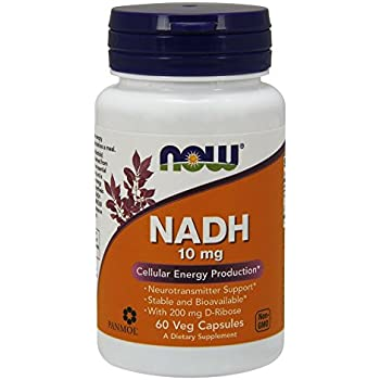 NOW NADH 10 mg,60 Veg Capsules