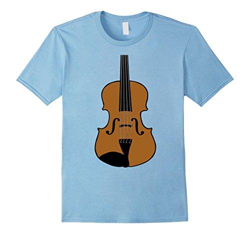 Mens Violin Costume Shirt Bowed Strings Orchestra Tune Music Medium Baby Blue