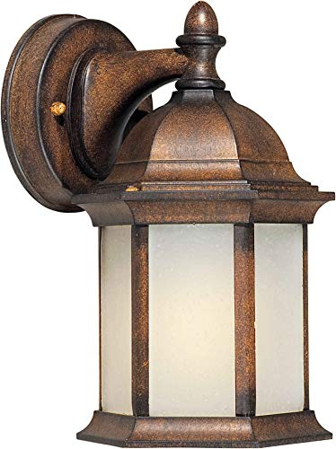 - Forte Lighting 17076-01-41 1 Light FL Cast Al Outdoor Lantern in Rustic Sienna,