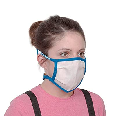 Medium Dust Bee Gone Mask - Blue Edging