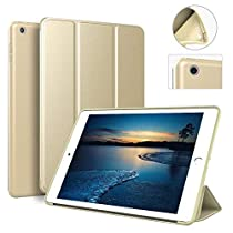 New iPad 2017 iPad 9.7 inch Case - aoub Ultra Slim Lightweight Smart Trifold Stand Case Cover with Magnetic Auto Wake & Sleep Function/Soft TPU Back Cover for iPad 9.7-inch 2017 Model