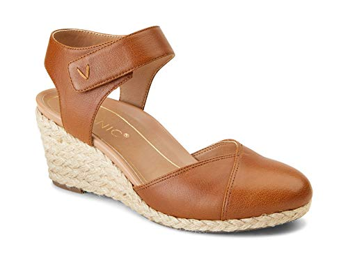 Vionic Women's Aruba Loika Backstrap Wedge - Ladies Wedges with Concealed Orthotic Support Toffee 9 M US