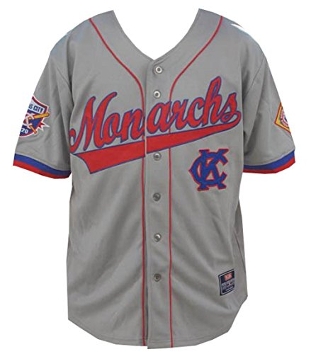 (Big Boy Headgear NLBM Mens Kansas City Monarchs Baseball Jersey Medium Gray)