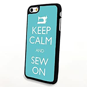 Generic Phone Accessories Matte Hard Plastic Phone Cases Quote Keep Calm and Sew On fit for Iphone 6 Plus