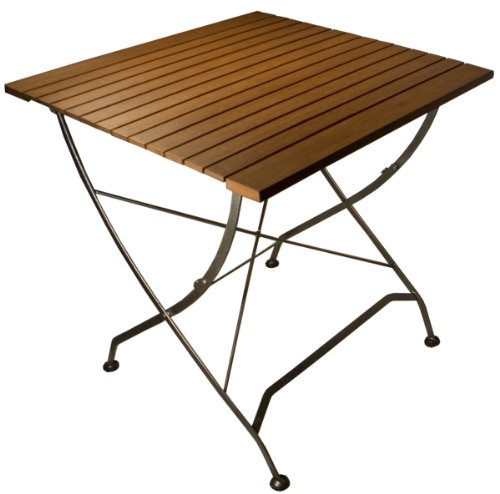 Arboria Square Patio Table Outdoor Seating Space for 4 With Hammered Metal Base