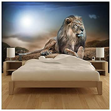 Amazoncom Azutura Majestic Lion Wall Mural Safari Animal Photo