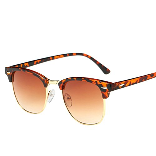 Malloom Women Men Square Mirrored Sunglasses Eyewear Outdoor Sports Glasse - Glasse Aviator