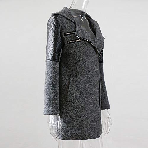Giacca Spessore Sottile Elegante Donna Parka Lungo Inverno Cappuccio Gray Morwind Con Caldo Di Giubbotto Invernale Cappotto Outwear Ragazza Cerniera xzFHWWcqRw