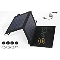 ePGes™ Solar Charger for for charging of Power-Banks, Cell Smart Phones Tablets and Media devices: Foldable, Compact. 7W, 5V, 1A