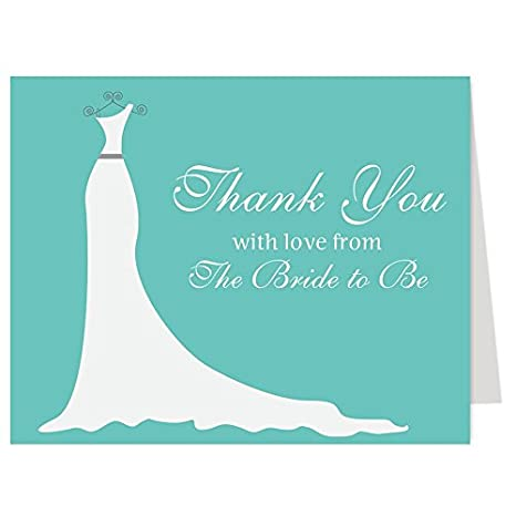Amazon.com: Simple Gown, Bridal Shower, Thank You Cards, Wedding ...