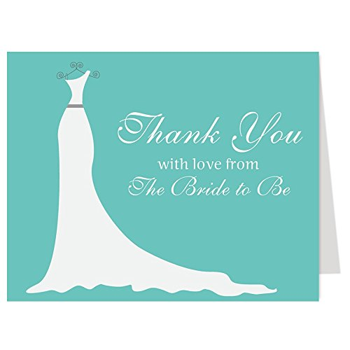 simple gown bridal shower thank you cards wedding dress pink gray simply stated thanks from the bride to be set of 50 thank you notes with envelopes
