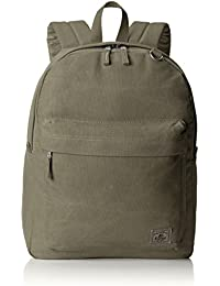 Classic Laptop Canvas Backpack, Olive, One Size
