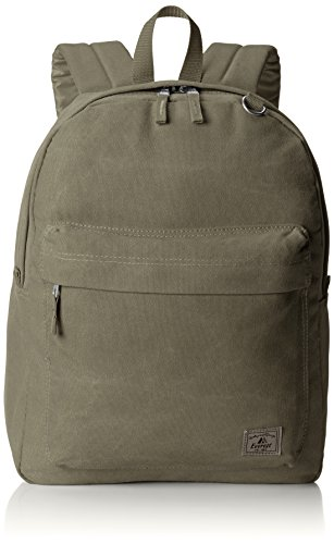 Everest Classic Laptop Canvas Backpack, Olive, One Size