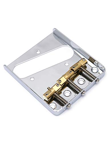 Metallor Wil Ashtray Bridge WTB Vintage Bridge with Compensated Brass Saddles Compatible with Fender Tele Telecaster Electric Guitar Parts Replacement Chrome.