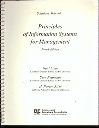 Principles of Information Systems for Management: Test Item