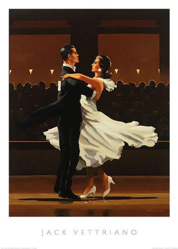 (Take this Waltz Jack Vettriano Romance Couple Dancing Print Poster 19.5x27.5)