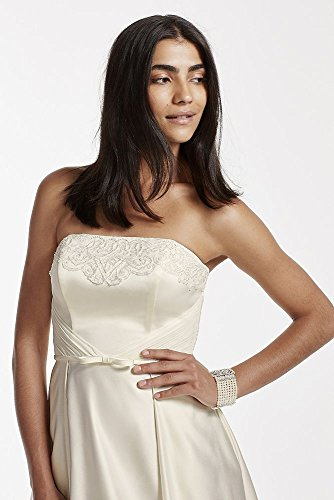 Strapless Satin Aline Wedding Dress with