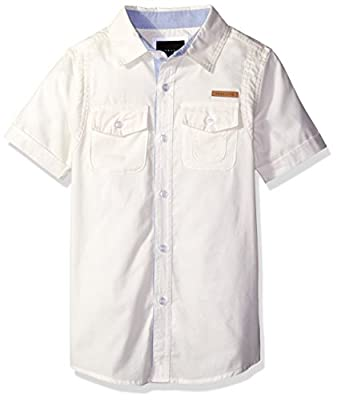Sean John Boys' Utility Flight Woven Shirt