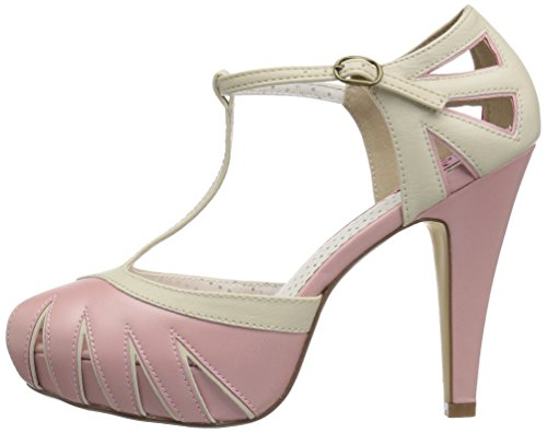 Bettie Pin 25 Leather Up cream B Couture Faux Pink RqEPqU