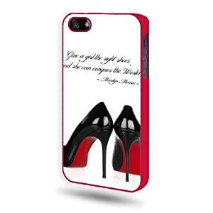 Marilyn Monroe Quote 4 iPhone 5 Case iPhone 5S Case - Red SoftShell Full Plastic Direct Printed