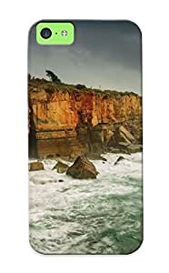 B274eac1507 Tough Iphone 5c Case Cover/ Case For Iphone 5c(rocky Shore ) / New Year's Day's Gift