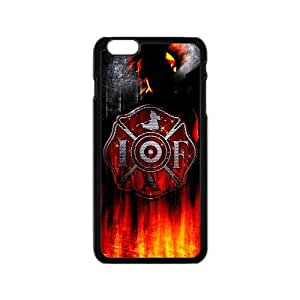 lintao diy Generic Custom Unique Otterbox You Deserve--American Flag Firefighter Emblem in Flames Fire Rescue Symbol Plastic Case Cover for the iPhone6