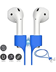 FONY Airpods Strap Magnetic Anti-Lost Cord Sport String Silicone Leash Cable Connector – Accessories for Airpods Pro/2/1 (5 Packs Blue)