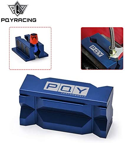 PQY Aluminum 4 Vise Jaw Clamp Block Tools Insert Pad for Fittings from -3 an to -32 anMagnetic Blue / PQY Aluminum 4 Vise Jaw Clamp Block Tools Insert Pad for Fittings from -3 an to -32 anMagnetic Blue