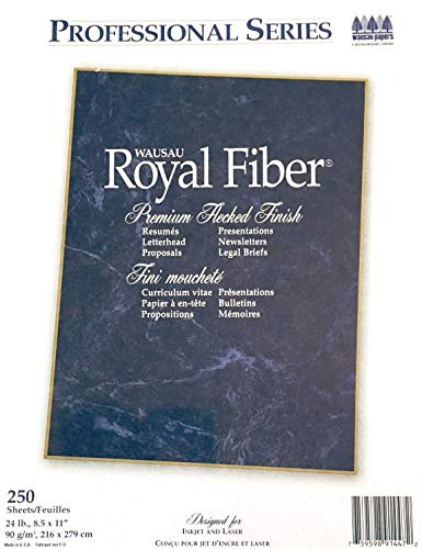 - Wausau Royal Fiber Professional Series 24 lb Paper 250 Sheets 91447 Gray