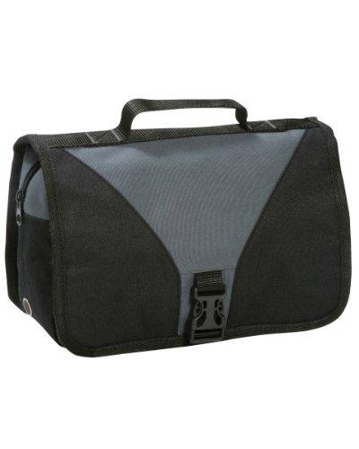 New de medios de transporte de plegable Shugon Bristol Toiletry Bag compartimento grande bolsa para raquetas de tenis y cierres de colores variados negro