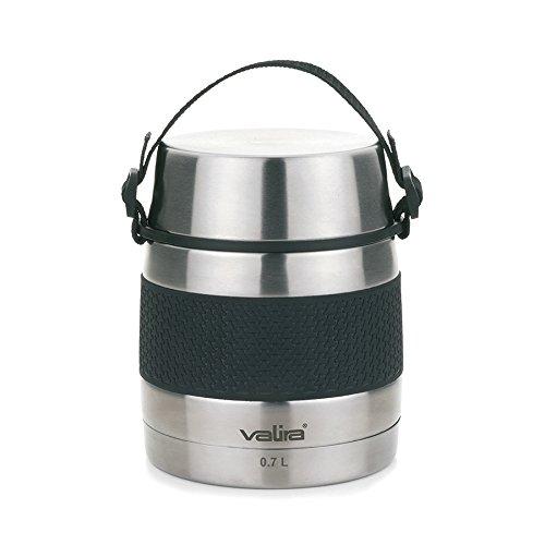 Valira - Termo para sólidos con 2 contenedores interiores, Acero inoxidable, 0.7 L