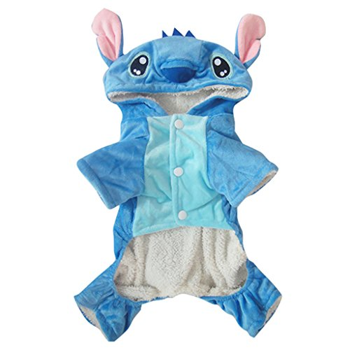 Gimilife Disney Stitch Cartoon Pet Custume Coat for Small Medium Large Dogs (Disney Costumes For Dogs)