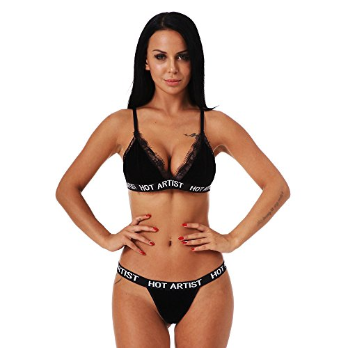 Push Up Bra for Women Sexy Lace Bandage Lingerie Corset Underwear Bra Briefs Set