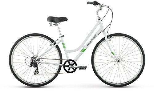 Raleigh Detour 1 Step Thru Comfort Bike, 15″ /Sm Frame, White, 15″ / small