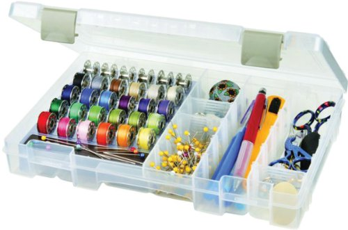 ArtBin Sew-Lutions Bobbin/Supply Box – Clear Sewing Storage Container, 6911AB