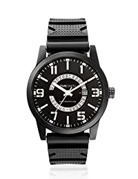 TimeSmith Limited Edition Black Dial Black Rubber Watch for Men with Day and Date TSM-089