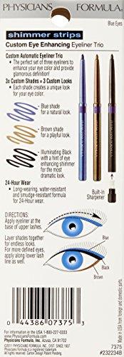 Physicians Formula Shimmer Strips Custom Eye Enhancing Eyeliner Trio, Blue Eyes, 0.03 oz.