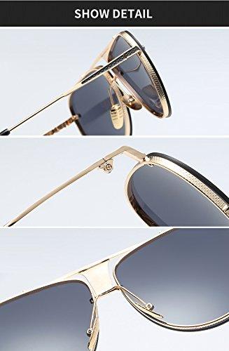 Grande Marco Male Gafas hombres Square Oversize Retro Eyewear sol Designer UV400 Classical para Shaped Oro Oro de q54wdq