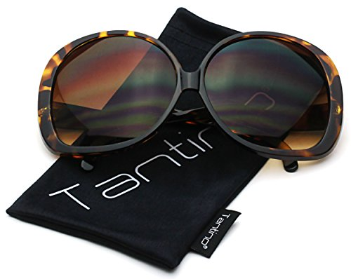 Tantino® Big Huge Oversized Square Sunglasses Womens Fashion Tortoise - Glasses Oversized Sun