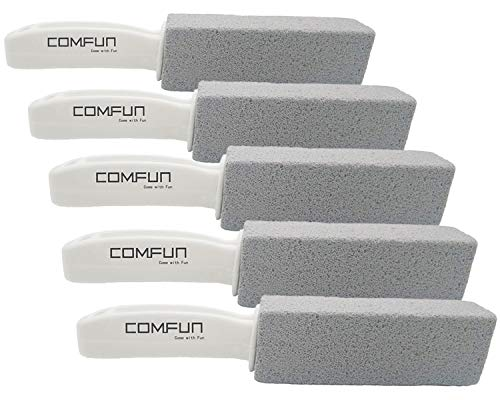 Bowl Stone Bathroom - Comfun Pumice Stone Toilet Bowl Cleaner for Kitchen/Bath/Pool/Spa/Household Cleaning 5 Pack