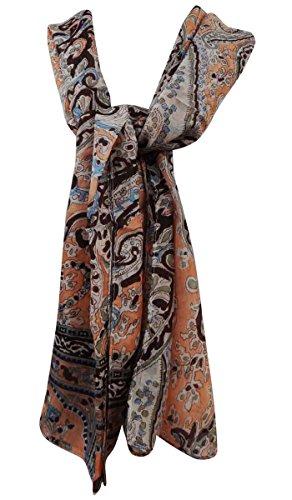da Aboutyou Printed Sciarpe pesca Hijab scialle Sciarpe pollici donna a con x Abstract 70 Silk Pure marrone 20 e testa 0YrqF0x