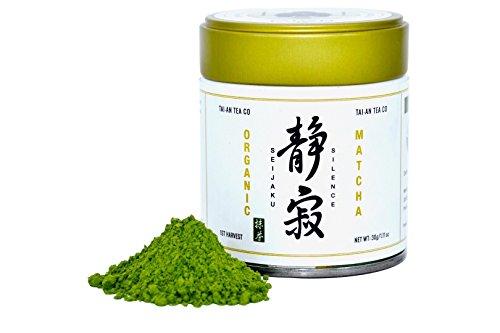 Tai-an Tea Co. Organic Premium Uji-Kyoto Ceremonial Matcha Green Tea-Seijaku(silence)-30g/1.11oz by Tai-an Tea Co.