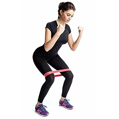 CiSiRUN Resistance Bands Best Exercise Loop Band Set of 5 Workout Equipment for Yoga Crossfit Fitness Pilates Strength Physical Therapy Mobility Recovery Training Body Legs Glutes Butt