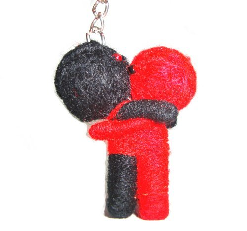 Valentive's Day Hug Lovers Voodoo Doll String Doll Keychain Keyring
