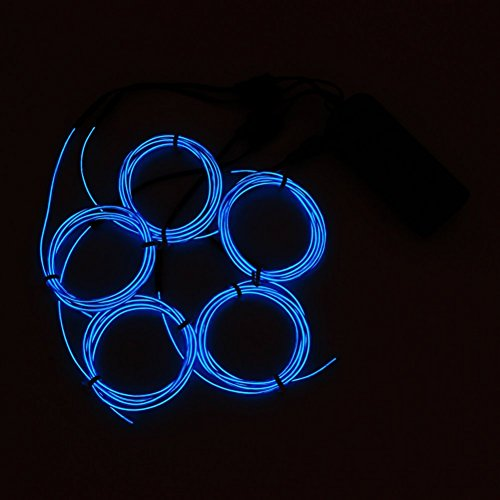 Sunshay Neon Light El Wire with Battery Pack,5 by 1-Meter, Blue?best idea for -