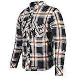 Speed and Strength Men's Rust and Redemption Black/Orange Moto Jacket, XL