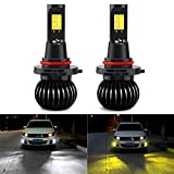 CIIHON 2PCS 9005 9006 Led Fog Lights Bulbs 9145 35W CREE 1900LM All in One Lamps 6000K White 3000K Yellow Dual Color Car Bulb DRL Fog Light Not Headlight