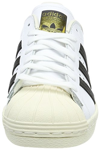 Black de Blanc Gymnastique Superstar 80s Chalk Homme adidas Chaussures White HRx61BxnT